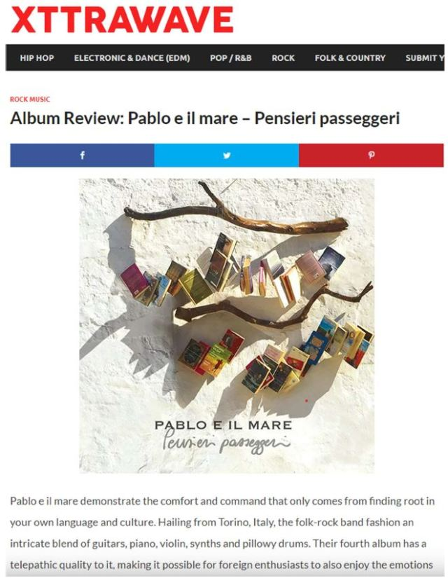 xxtrawave pag 1 Pablo e il mare